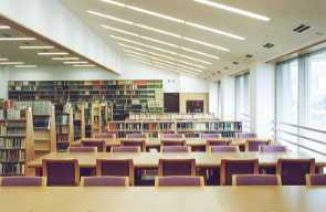 the picture of reading room in library